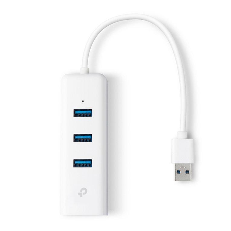 ADAPTADOR TP-LINK USB 3,0 A ETHERNET GIGA CON 3 PORT USB 3.0