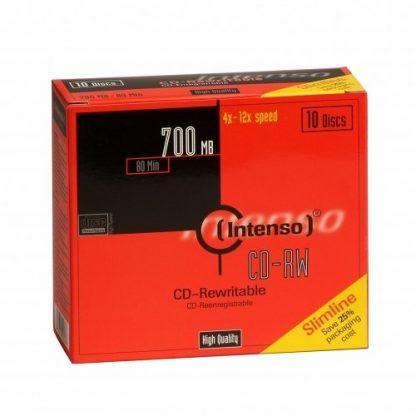 CD-RW INTENSO 700MB/80 Min SLIM CASE 10