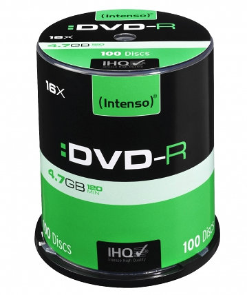 DVD-R INTENSO 4,7GB 16X CAKEBOX 100