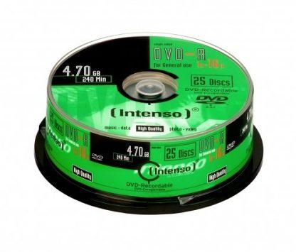DVD-R INTENSO 4,7GB 16X CAKEBOX 25