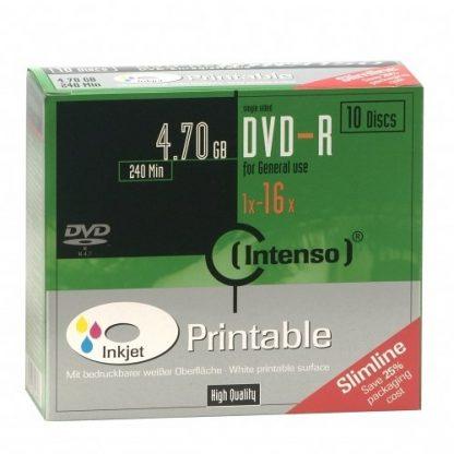 DVD-R INTENSO 4,7GB 16X PRINTABLE SLIM CASE 10