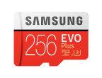 MICRO SD SAMSUNG 256GB EVO C10 R100/W90 CON ADAPTADOR