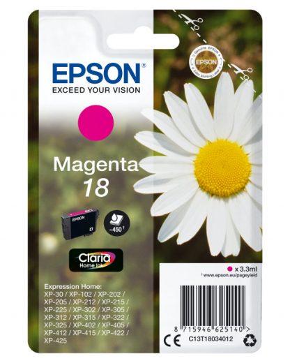 TINTA EPSON CLARIA 18 MAGENTA XP102 205 305 322 405 422