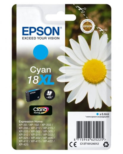 TINTA EPSON EXPRESION HOME 18XL CIAN  XP102 205 215 305 405